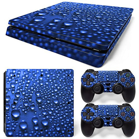 ModFreakz® Console/Controller Vinyl Skin Set - Rain Dew Drops for PS4 Slim