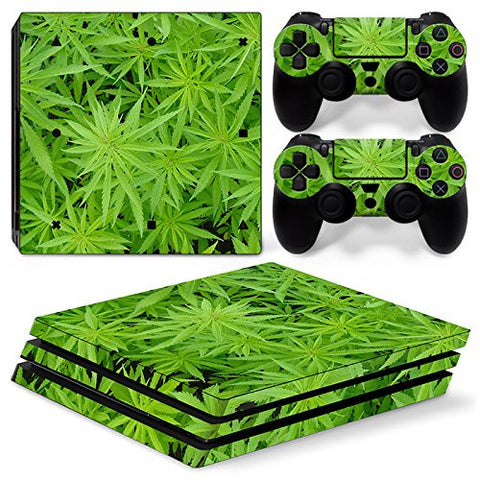 ModFreakz® Console/Controller Vinyl Skin Set - Dense Weed Patch for PS4 Pro - Mod Freakz