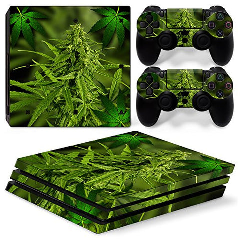 ModFreakz® Console/Controller Vinyl Skin Set - Weed Bud for PS4 Pro