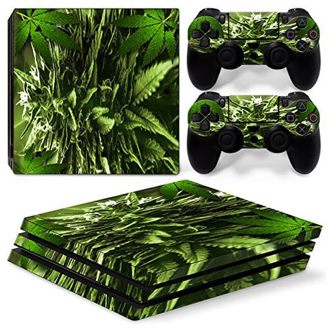 ModFreakz® Console/Controller Vinyl Skin Set - Large Weed Bud for PS4 Pro