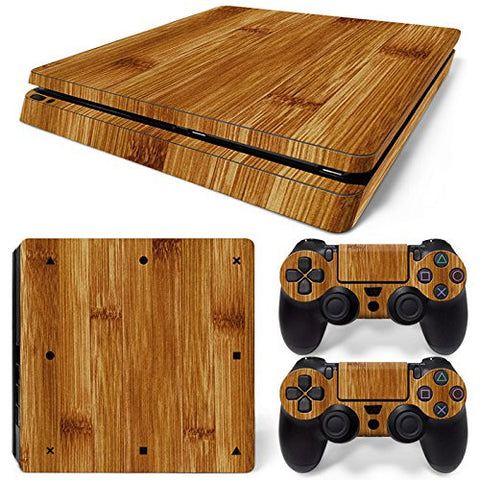 ModFreakz® Console/Controller Vinyl Skin Set - Brushed Wood for PS4 Slim - Mod Freakz