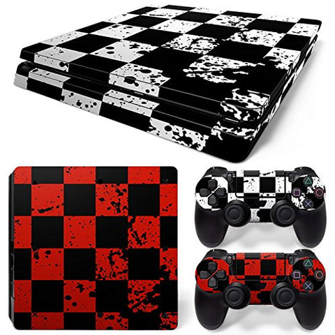 ModFreakz® Console/Controller Vinyl Skin Set - Checker Boards for PS4 Slim - Mod Freakz