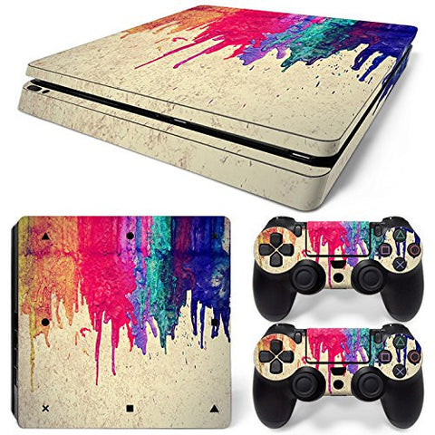 ModFreakz® Console/Controller Vinyl Skin Set - Dripping Paint for PS4 Slim - Mod Freakz