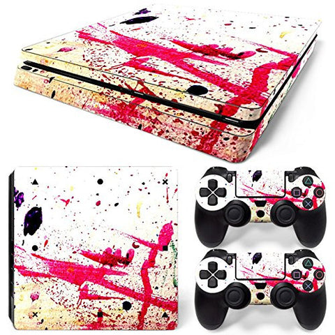 ModFreakz® Console/Controller Vinyl Skin Set - Pink Paint Cast Off for PS4 Slim