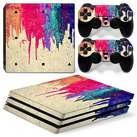 ModFreakz® Console/Controller Vinyl Skin Set - Dripping Paint for PS4 Pro - Mod Freakz
