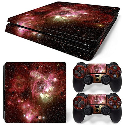 ModFreakz® Console/Controller Vinyl Skin Set - Red Star Light Show for PS4 Slim