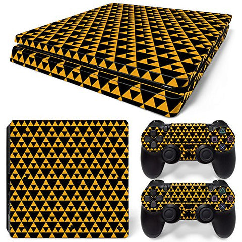 ModFreakz® Console/Controller Vinyl Skin Set - Yellow Triangles for PS4 Slim