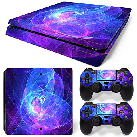 ModFreakz® Console/Controller Vinyl Skin Set - Swirling Light for PS4 Slim