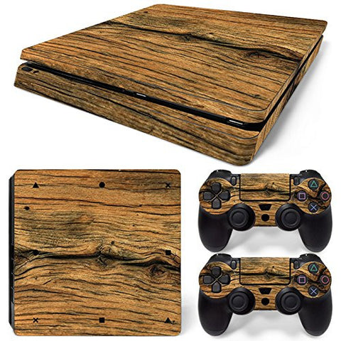 ModFreakz® Console/Controller Vinyl Skin Set - Aged Rough Wood for PS4 Slim - Mod Freakz