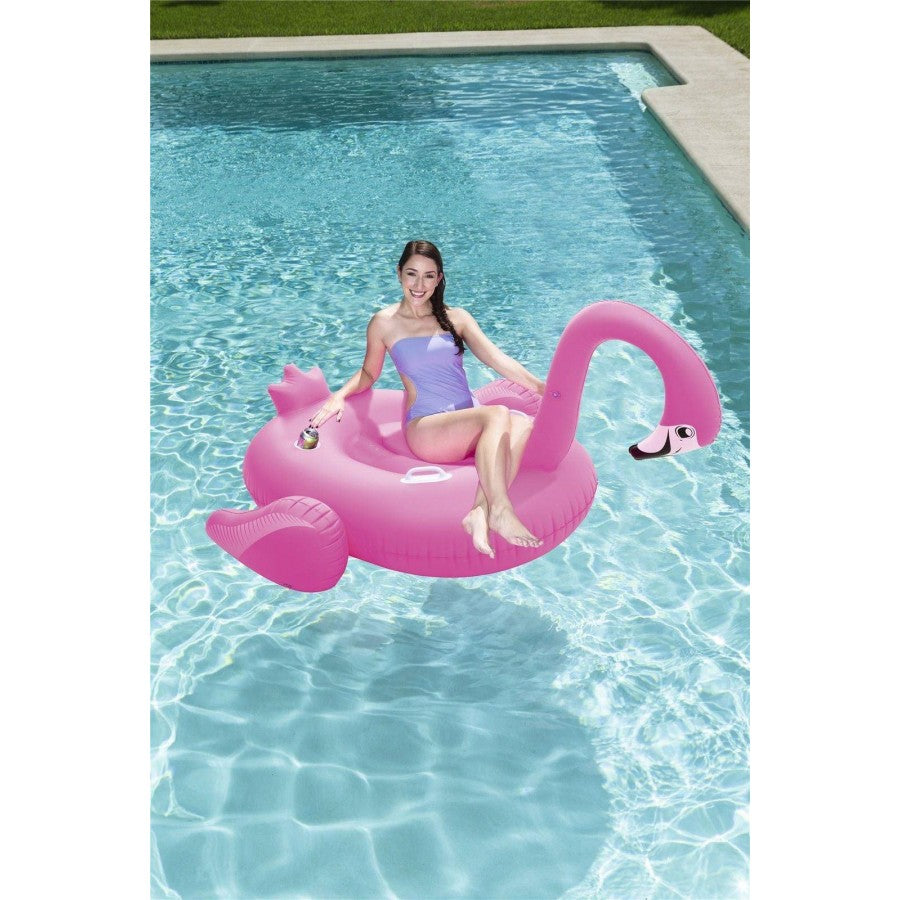 Bestway Pink Inflatable Supersized Flamingo Rider
