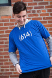 (614) Royal Blue Unisex T-Shirt