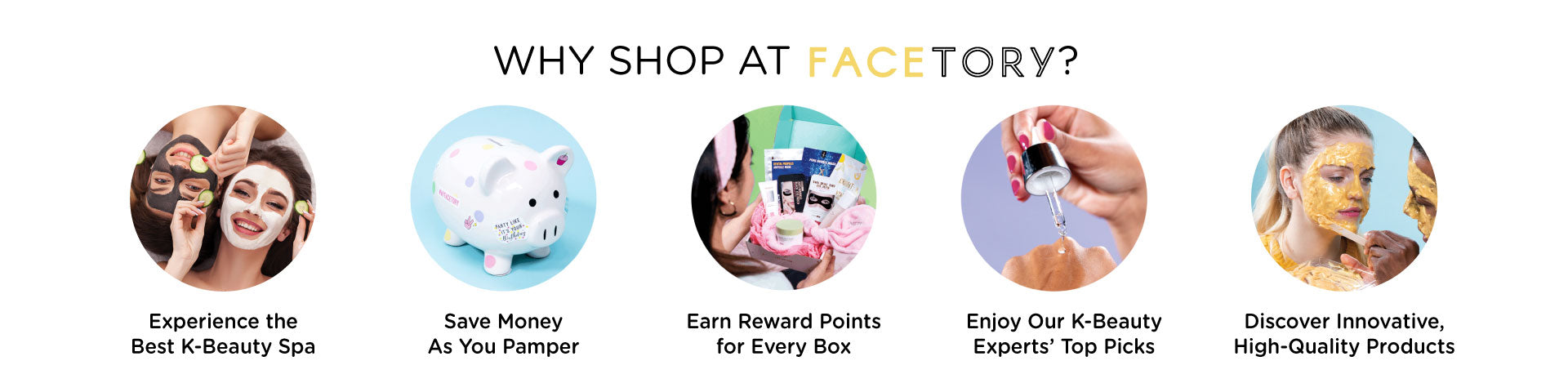 Why Shop at FaceTory Banner