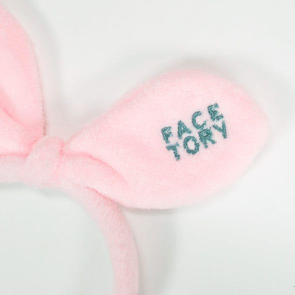 FaceTory Bunny Bow Hairband- Blushing Pink