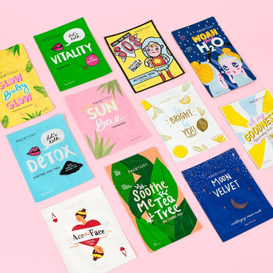 FaceTory Original 11 Sheet Mask Collection (Value $31.50)
