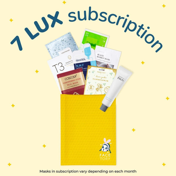 7 Lux Subscription (6 Months + 1 Month Free) Subscription Box FaceTory