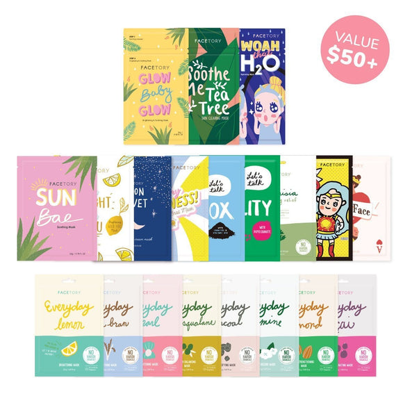 FaceTory 20 Pack Sheet Mask Collection Sheet Mask FaceTory 20 Pack Sheet Mask Collection