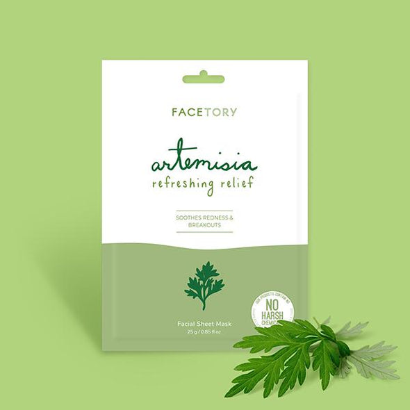 FaceTory Artemisia Refreshing Relief Facial Sheet Mask Sheet Mask FaceTory