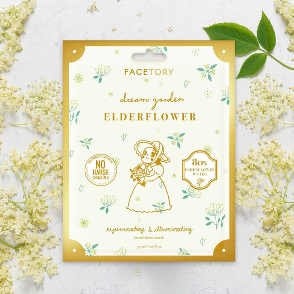 FaceTory Dream Garden Elderflower Rejuvenating and Illuminating Sheet Mask Sheet Mask FaceTory
