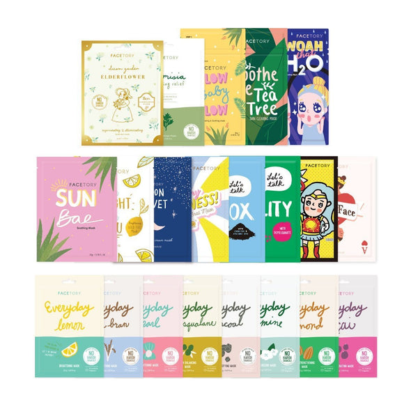 FaceTory Fam Sheet Mask Bundle (21 Sheet Masks) Sheet Mask FaceTory