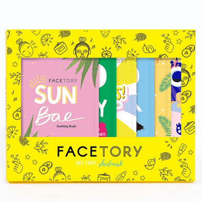 FaceTory Glowing Gift Set of 6 Sheet Masks Sheet Mask FaceTory