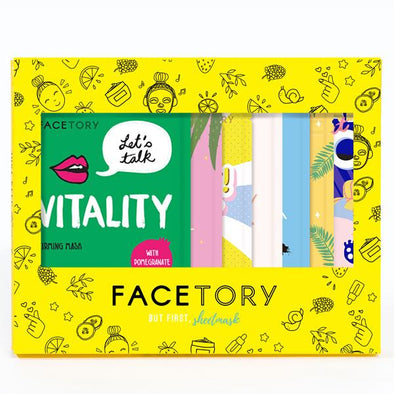 FaceTory Glowing Gift Set of 7 Sheet Masks Sheet Mask FaceTory