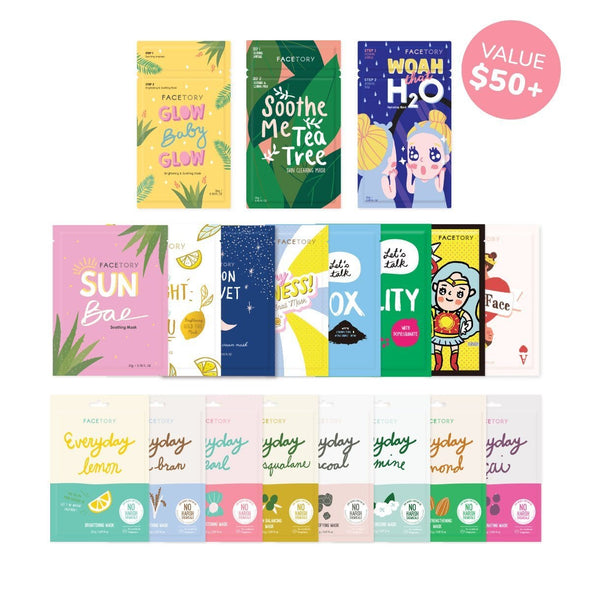 FaceTory Sheet Mask Collections Bundles & Sets FaceTory 19 Pack