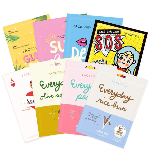 FaceTory Skin Type Sheet Mask Collection (Pack of 8) Sheet Mask FaceTory Combination
