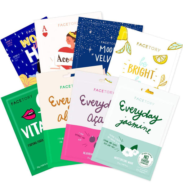 FaceTory Skin Type Sheet Mask Collection (Pack of 8) Sheet Mask FaceTory Dry