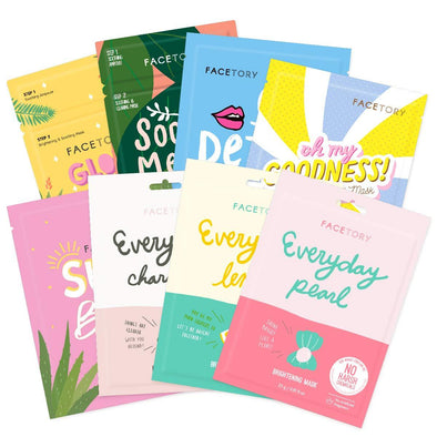 FaceTory Skin Type Sheet Mask Collection (Pack of 8) Sheet Mask FaceTory Oily