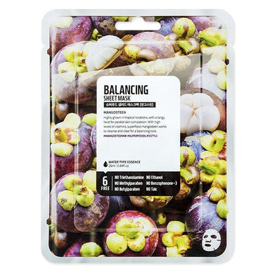 Farm Skin Superfood Salad for Skin Balancing Sheet Mask - Mangosteen Sheet Mask Farm Skin