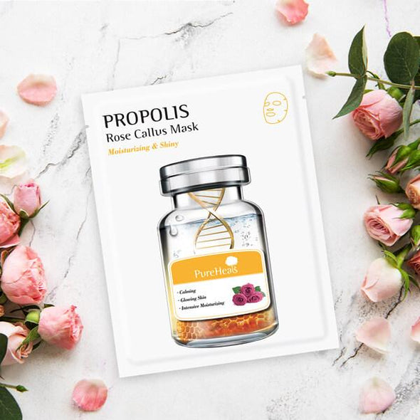PureHeals Propolis Rose Callus Mask Sheet Mask Pureheals