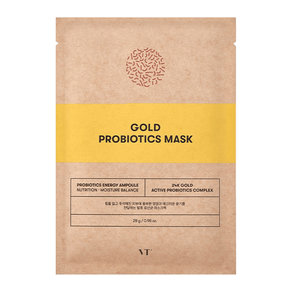 VT Cosmetics Gold Probiotics Mask Sheet Mask VT Cosmetics
