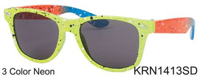 KRN1413SD - Wholesale Kids Classic Square Rainbow Sunglasses