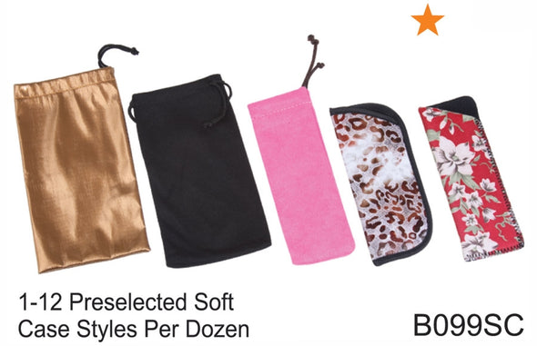 B099SC - Wholesale Preselected Assortment of Eyeglass Pouches