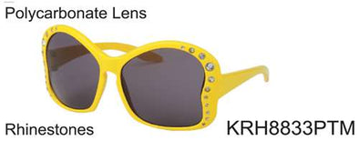 KRH8833PTM - Wholesale Kids Keyhole Butterfly Sunglasses