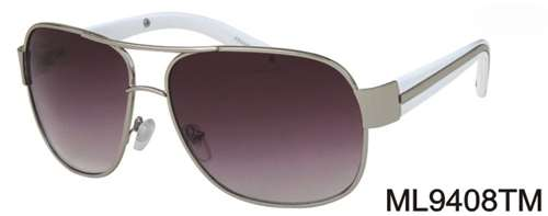 ML9408TM - Wholesale Fashion Navigator Style Sunglasses in Silver