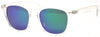 1468RPL - Wholesale Square Keyhole Style Colored Mirror Polarized Sunglasses in Clear