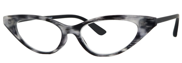 1509R - Wholesale Women's Sharp Cat Eye Reading Glasses in Grey Tortoise