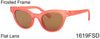 1619FSD -Wholesale Retro Round Cat Eye Frosted Women's Sunglasses in Pink