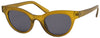 1619FSD -Wholesale Retro Round Cat Eye Frosted Women's Sunglasses in Yellow