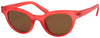 1619FSD -Wholesale Retro Round Cat Eye Frosted Women's Sunglasses in Red