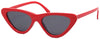 1623FSD - Wholesale Slim Cat Eye Retro Women's Sunglasses in Red
