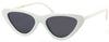 1623FSD - Wholesale Slim Cat Eye Retro Women's Sunglasses in White