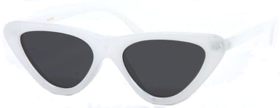 1623HPL - Wholesale Women's Cat Eye Style Style Polarized Sunglasses in White