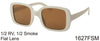 1627FSM - Wholesale Women's Retro Square Sunglasses in White