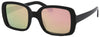 1627FSM - Wholesale Women's Retro Square Sunglasses in Black