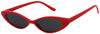 1629FSD - Wholesale Slim Retro Cat Eye Sunglasses in Red