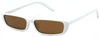 1632FSM -Wholesale Slim and Thin Retro Rectangular Sunglasses in White