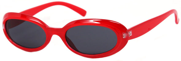 1633SD -Wholesale Women's Slim Oval Retro Sunglasses in Red