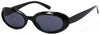 1633SD -Wholesale Women's Slim Oval Retro Sunglasses in Black